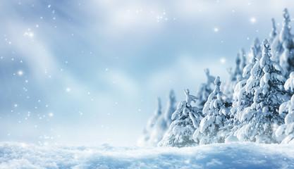 romantischer winterwald