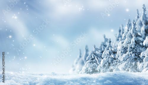 Obraz romantischer winterwald - fototapety do salonu