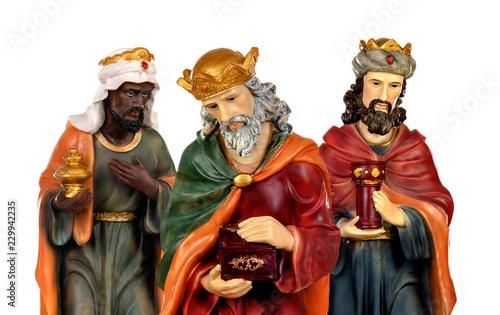 Photo The three wise men and baby Jesus