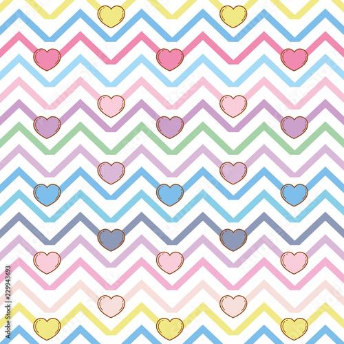 Fotografie, Obraz  Chic hearts background