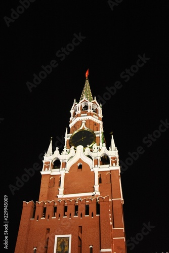Moscow Kremlin. Color night photo.