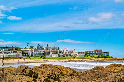 Deurstickers Zuid-Amerika land La Barra Beach, Punta del Este, Uruguay