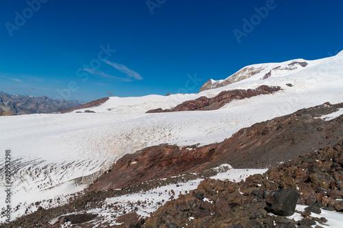 Foto op Aluminium Nachtblauw Landscape view of Caucasus mountains