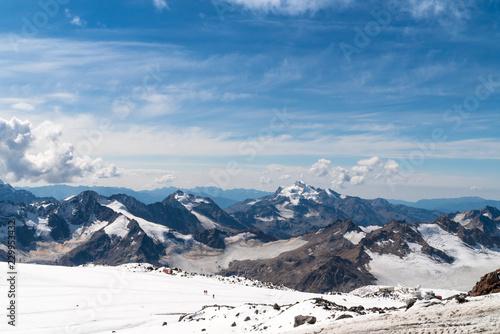 Foto op Canvas Bleke violet Landscape view of Caucasus mountains