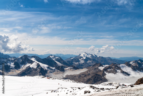 Deurstickers Bleke violet Landscape view of Caucasus mountains