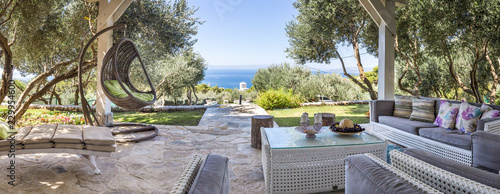 Aluminium Prints Garden Luxury private villa terrace