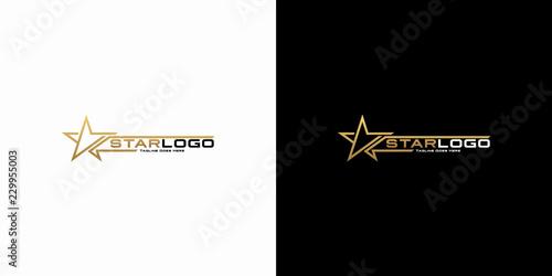 Obraz Modern gold star logo design vector. Stars logo design concept - fototapety do salonu