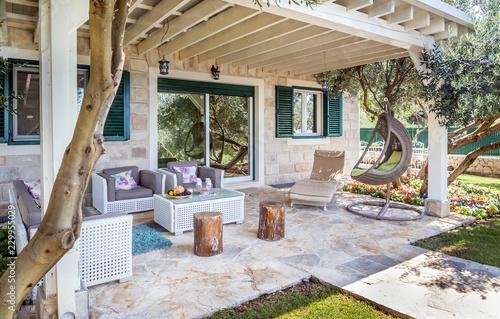 Poster Jardin Luxury private villa terrace
