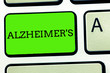 Leinwandbild Motiv Writing note showing Alzheimer s is. Business photo showcasing Progressive mental deterioration that can occur in middle age.