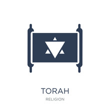 Torah Icon. Trendy Flat Vector...