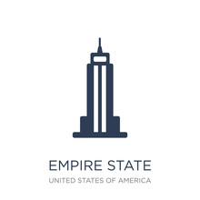 Empire State Building Icon. Tr...