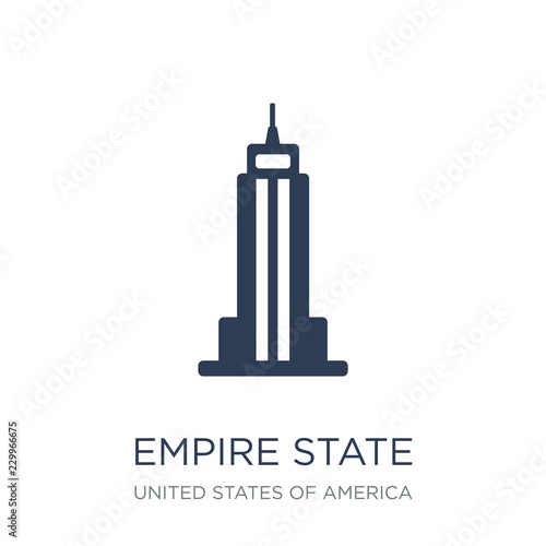 Fototapeta Empire state building icon
