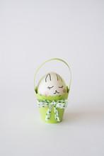 Egg Bunny In A Paper Basket