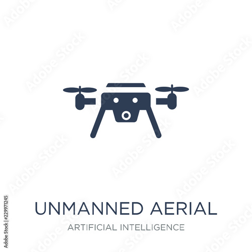 Photo  Unmanned aerial vehicle icon. Trendy flat vector Unmanned aerial