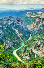 The Verdon Gorge, A Deep Canyon In Provence, France