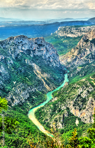 Poster Europese Plekken The Verdon Gorge, a deep canyon in Provence, France