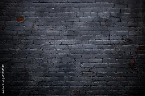 Foto op Plexiglas Black Brick Wall