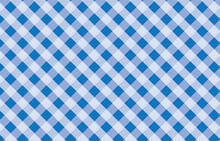 Blue And White Gingham Pattern...