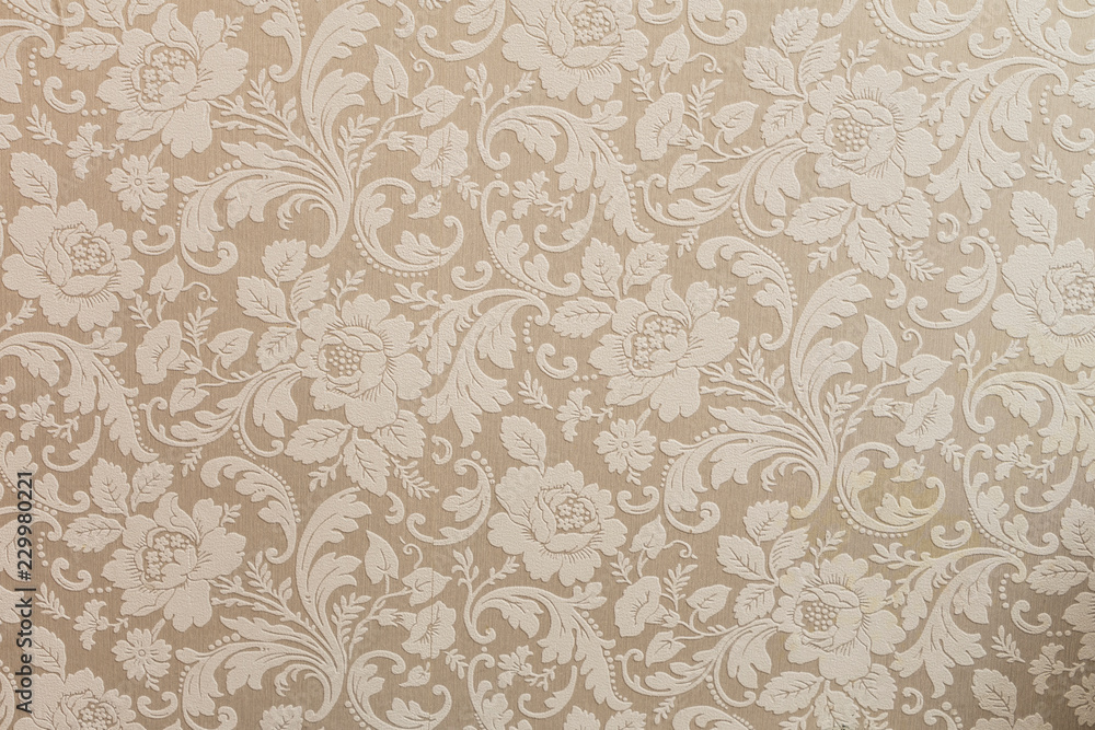 Fototapety, obrazy: vintage wallpaper with flowers