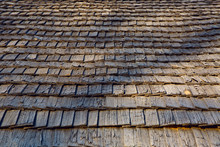 Old Wooden Roof Made Of Small ...