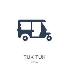 Tuk Tuk Icon. Trendy Flat Vect...