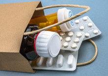Bag With Some Medicines, Consumer Concept