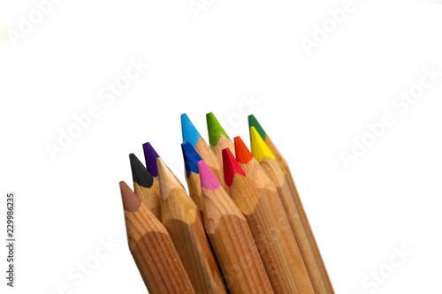 Fotografía  Colored Pencils on white background