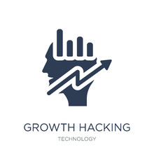 Growth Hacking Icon. Trendy Flat Vector Growth Hacking Icon On White Background From Technology Collection