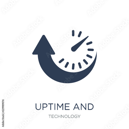 Uptime and downtime icon Canvas Print