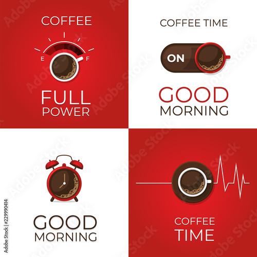 Coffee concept set Canvas Print