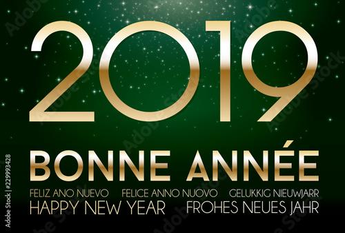 Photo  Bonne année 2019 vert
