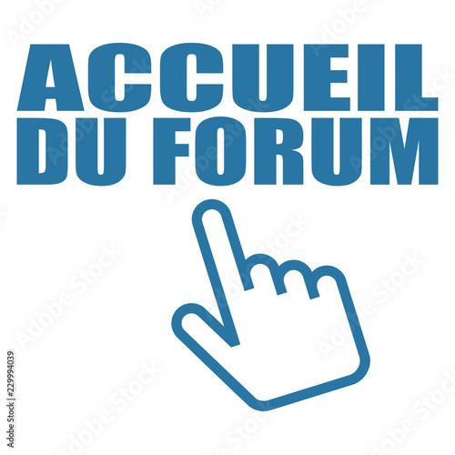 Fotografie, Obraz  Logo accueil du forum.