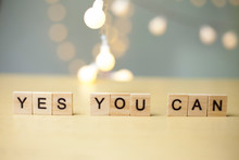 Yes You Can, Motivational Word...