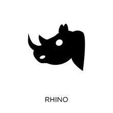 Rhino Icon. Rhino Symbol Design From Animals Collection.