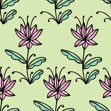 Floral Seamless Pattern With D...