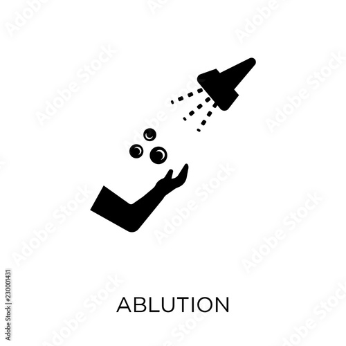 Fotografija  ablution icon. ablution symbol design from Hygiene collection.
