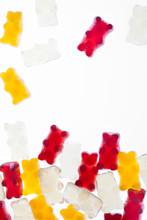Gummy Bears On White Background
