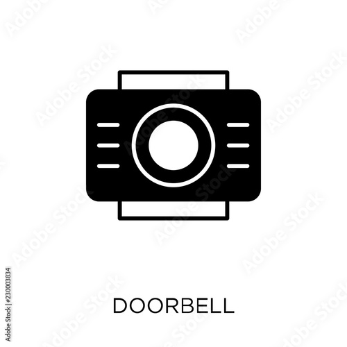 Fotografie, Obraz  Doorbell icon. Doorbell symbol design from Smarthome collection.