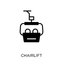 Chairlift Icon. Chairlift Symbol Design From Transportation Collection. Simple Element Vector Illustration. Can Be Used In Web And Mobile.