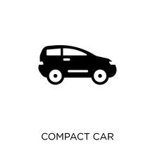 Compact Car Icon. Compact Car ...
