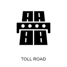 Toll Road Icon. Toll Road Symbol Design From Maps And Locations Collection.