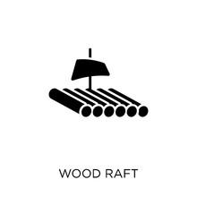 Wood Raft Icon. Wood Raft Symb...