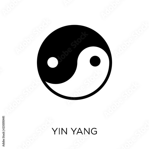 Fotografering  Yin Yang icon. Yin Yang symbol design from Religion collection.