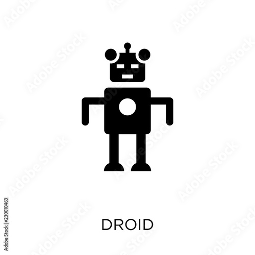 Fotografie, Obraz  Droid icon. Droid symbol design from Science collection.