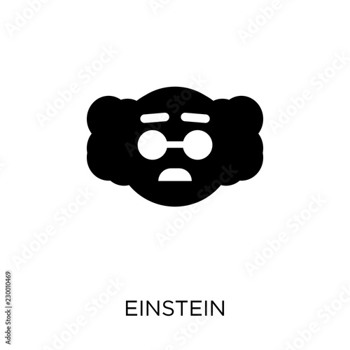 Photo  Einstein icon. Einstein symbol design from Science collection.
