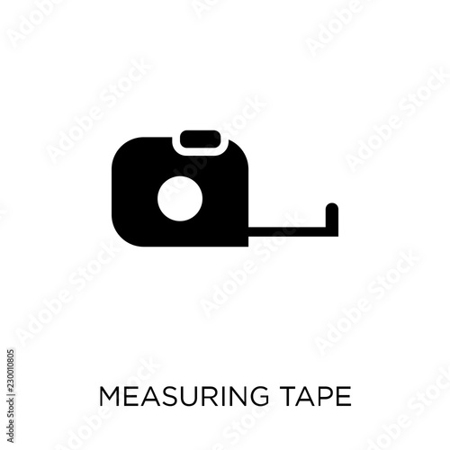 Obraz na plátně Measuring tape icon