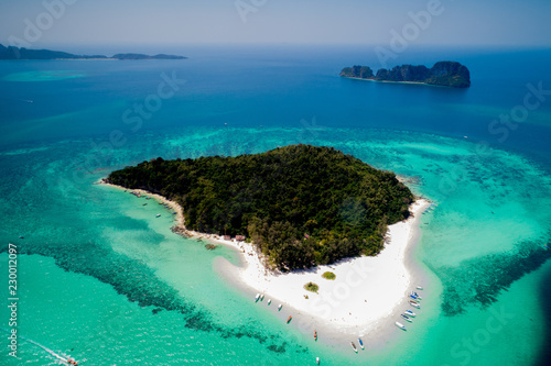 incredible view bamboo island from the top in thailand Wallpaper Mural