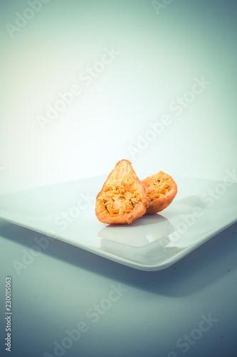 Foto  Brasilian snack coxinha,