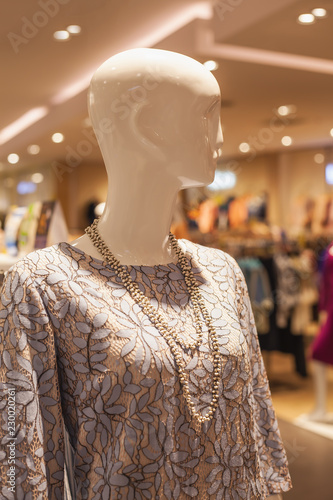 The woman statue in fashion costume to show in fashion stores Wallpaper Mural