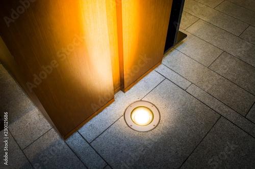 Fototapeta ground light bury on the ground